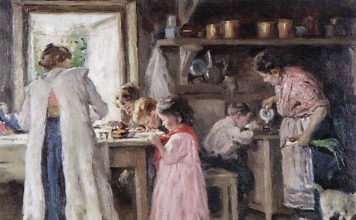 at the kitchen 1913 Vladimir Makovsky 356x220 - Início